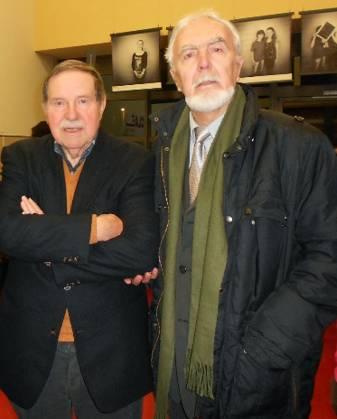 Scriitorii Cornel Meder şi Ion Lazu,  la PriMots, Differdange, G.D. Luxemburg, Decembrie 2013