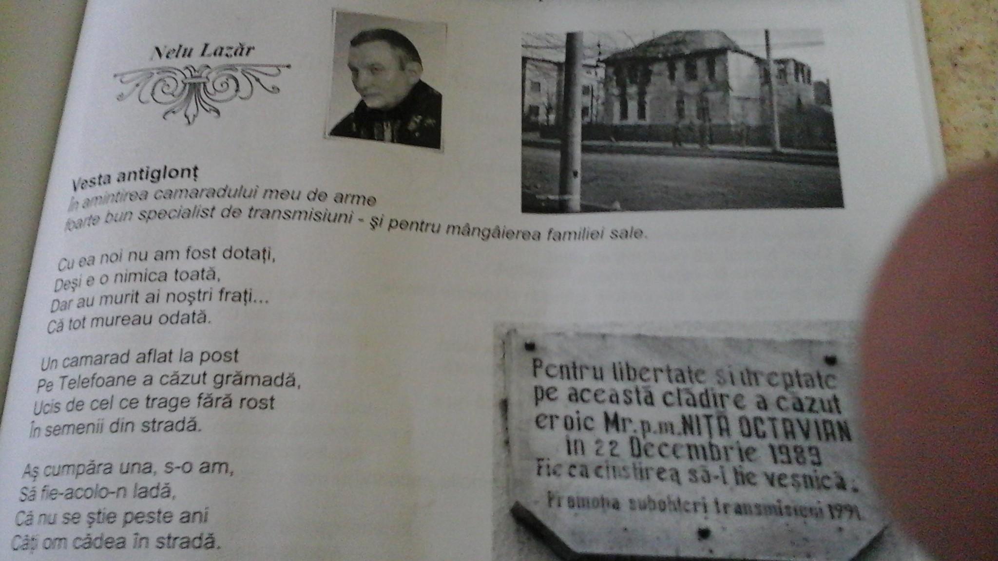 Pagina din revista literara Rapsodia