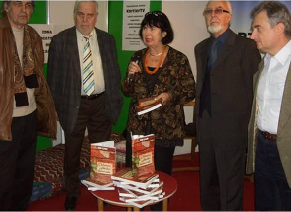 Lansare la târgul Gaudeamus, Bucureşti,  22 XI 2012: Emil Lungeanu, Mircea Coloșenco, Simona Cioculescu, Ion Lazu şi Radu Voinescu