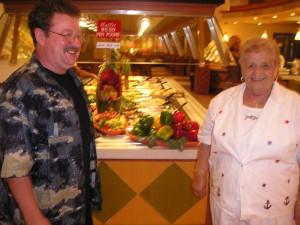 Impreuna cu Romanoaia la un bufet italian din Florida
