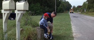 Forestt-Gump-and-son-wait-for-the-school-bus-first-day-of-school