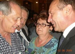 Vlad Solomon în discuție animată cu Traian Băsescu la Tel Aviv