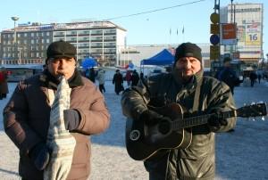 Cântereti stradali la Turku, Finlanda