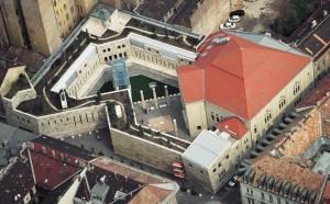 Centrul Memoriei Holocaustului din Budapesta, vedere din avion