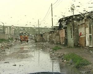 Colonia de pe strada Cantonului, potopită de ploaie