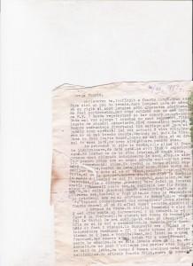 Scrisoare datata pe 20 decembrie 1993