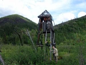 Hadânga, Iakutia, lagăr pentru deţinuţi, post de pază